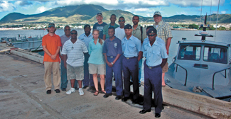 The skilled staff from St. Kitts and Nevis Coast Guard played a key role in seabed mapping. Photo © Steven R. Schill/TNC